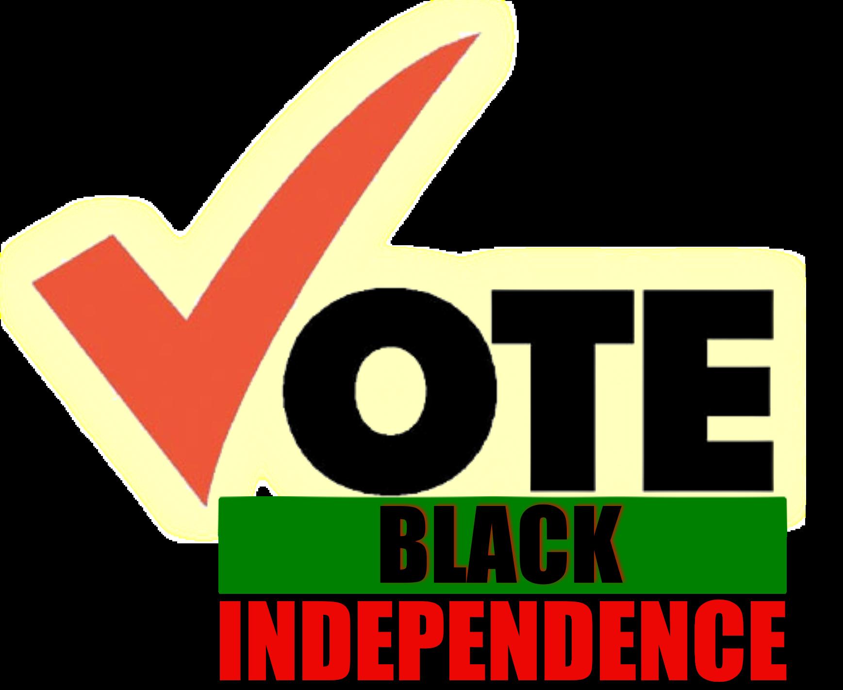 Black independence vote logo